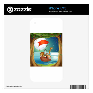 Animals and boat skin for iPhone 4S
