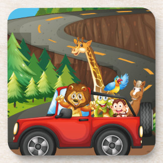 Animals and car coaster