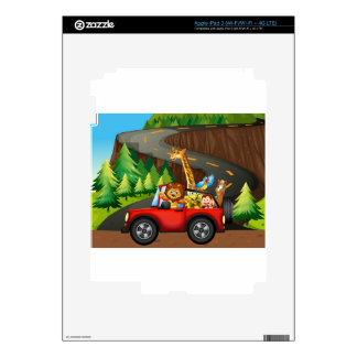 Animals and car decals for iPad 3