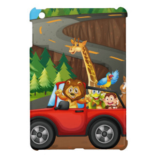 Animals and car iPad mini case