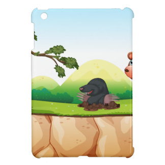 Animals and cliff case for the iPad mini