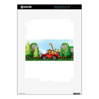 Animals and cliff decal for the iPad 2