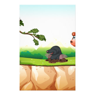 Animals and cliff stationery