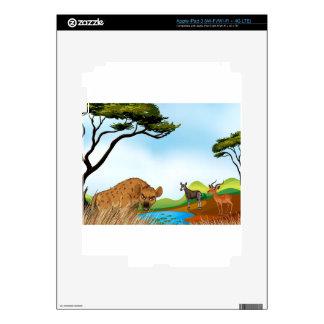 Animals and field iPad 3 skin