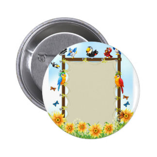 Animals and frame button