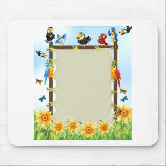 Animals and frame mouse pad