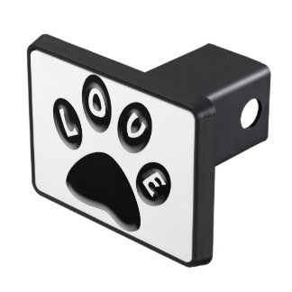animals and pet lovers, paw print gifts tow hitch cover