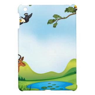 Animals and pond iPad mini covers