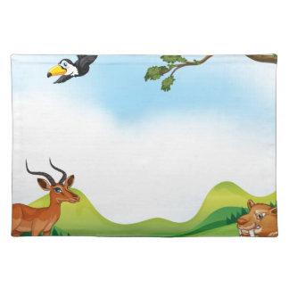 Animals and pond placemat
