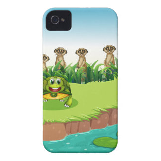 Animals and river iPhone 4 cover