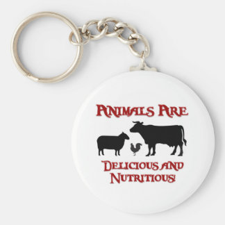 Animals are Delicious and Nutritious Keychain