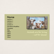 Animals are for loving business card