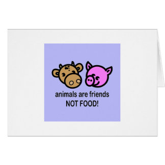 Animals are friends greeting card