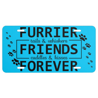 Animals are Friends License Plate