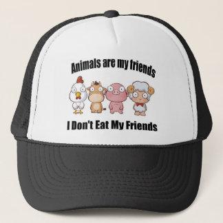 Animals are my friends trucker hat