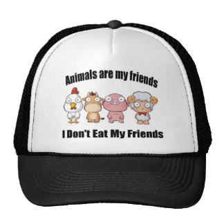 Animals are my friends trucker hat