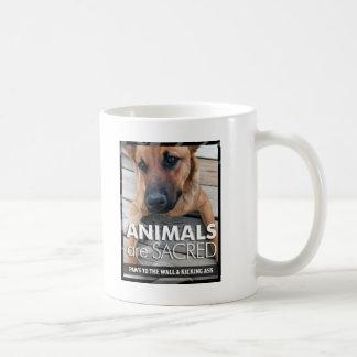 Animals are Sacred Classic White Coffee Mug