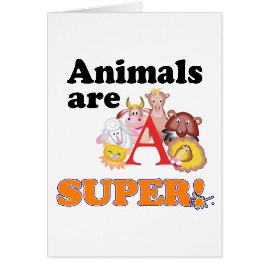 animals are super card