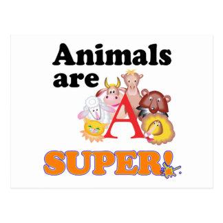 animals are super postcard