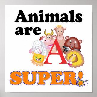 animals are super poster