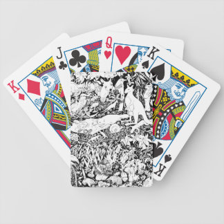 Animals at Peace Bicycle Playing Cards