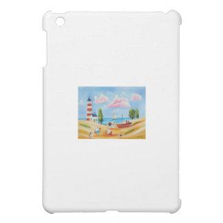 Animals at the beach cow and sheep Gordon Bruce iPad Mini Cover