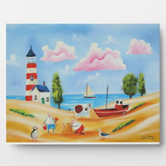 Animals at the beach cow and sheep Gordon Bruce Plaque