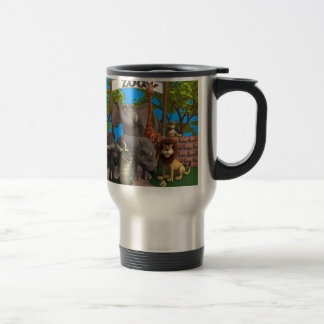 Animals at the Zoo 15 Oz Stainless Steel Travel Mug