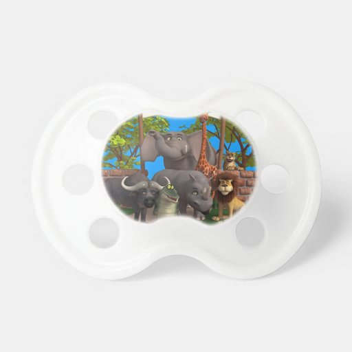 Animals at the Zoo Baby Pacifiers