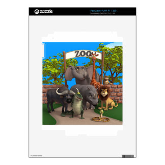 Animals at the Zoo Skins For The iPad 2