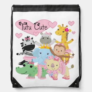 Animals Ballet Tutu Cute Drawstring Bag