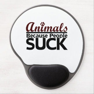 Animals Because People Suck Gel Mouse Pad