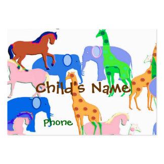 Animals Children's Calling Card