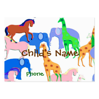 Animals Children's Calling Card Large Business Cards (Pack Of 100)