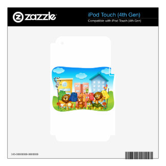Animals doing laundry outside iPod touch 4G skins