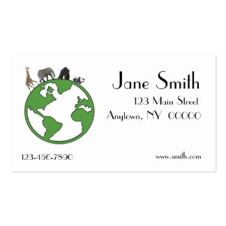 Animals Earth Business Card