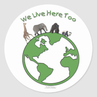 Animals Earth Stickers