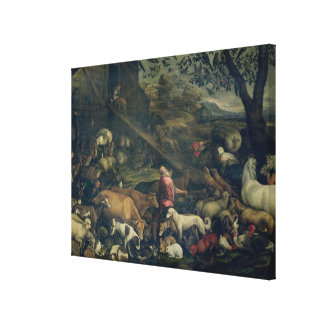 Animals Entering the Ark oil on canvas Canvas Prints