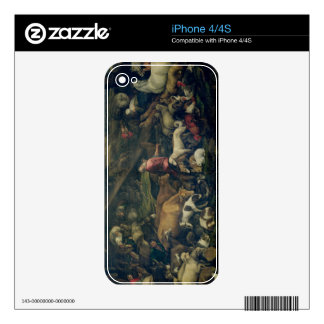 Animals Entering the Ark (oil on canvas) Skin For iPhone 4