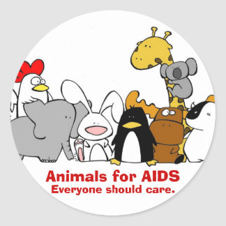 Animals for AIDS Stickers