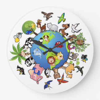 Animals for World Peace - Round Clock