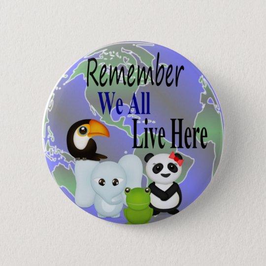 Animals Globe Button