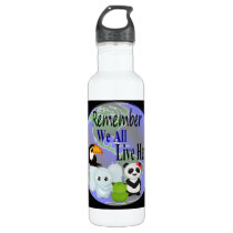 Animals Globe Stainless Steel Water Bottle