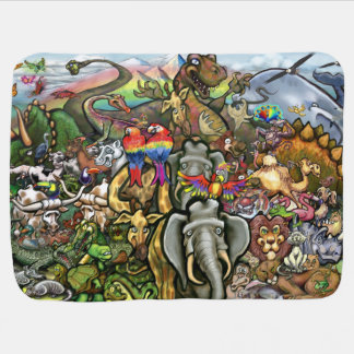 Animals Great and Small Stroller Blanket