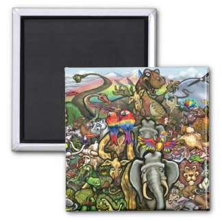 Animals Great & Small 2 Inch Square Magnet