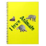 animals grün notizbücher