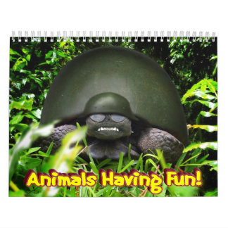 """ Animals Having Fun! "" Calendar Wall Calendars"
