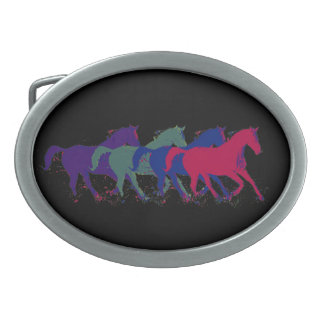 animals horse farm oval belt buckle