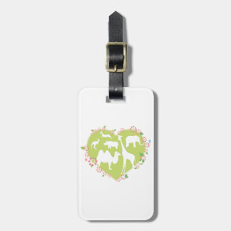 Animals in a Heart Shape Tags For Bags