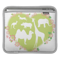 Animals in a Heart Shape Sleeve For iPads